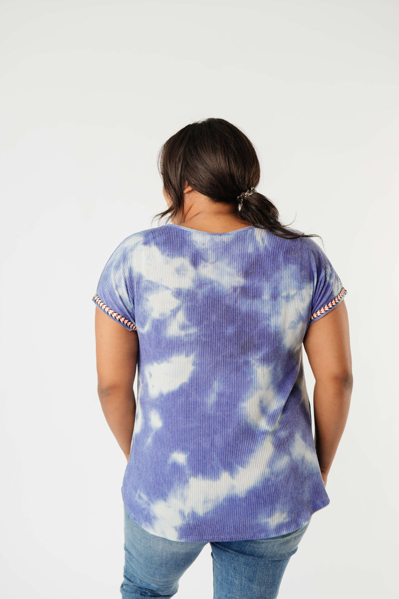 Reflections On Blue Water Top-1XL, 2XL, 3XL, 8-13-2020, BFCM2020, Group A, Group B, Group C, Group D, Group T, Large, Medium, Plus, Small, Tops, XL, XS-Womens Artisan USA American Made Clothing Accessories