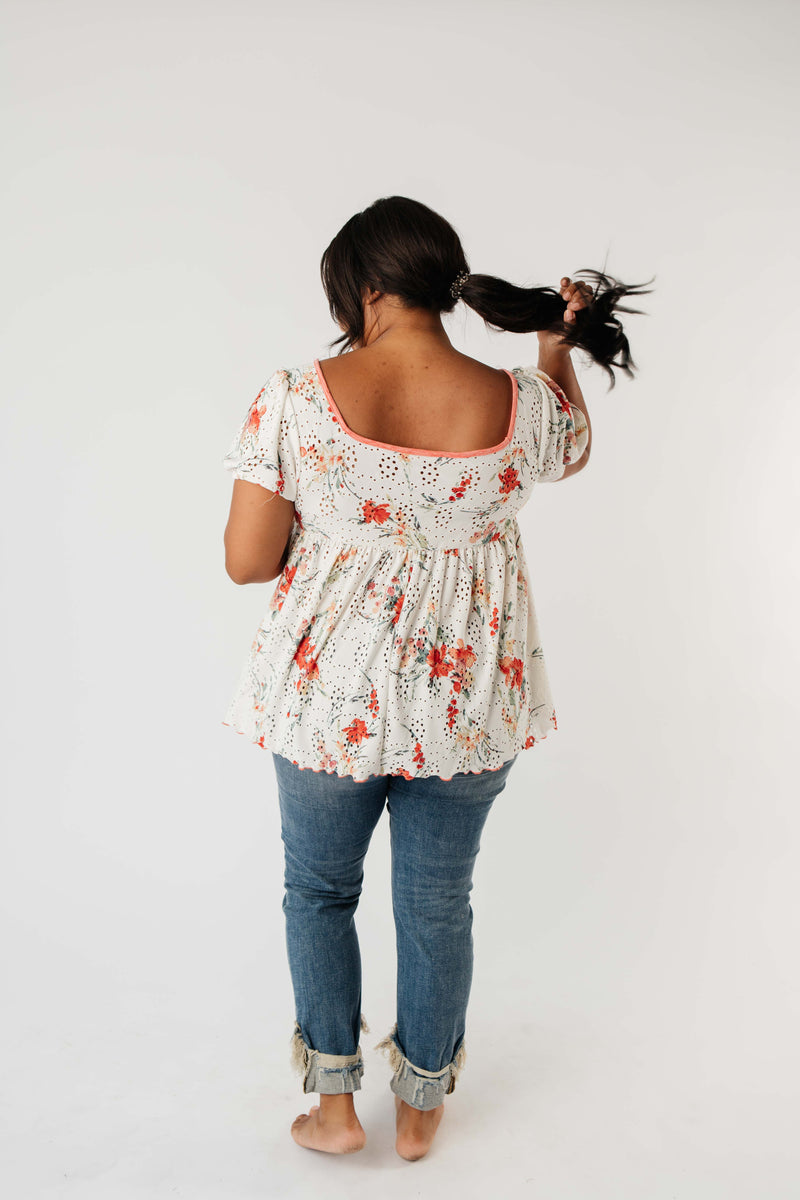 You're A Sweetheart Floral Top-1XL, 2XL, 3XL, 8-18-2020, BFCM2020, Group A, Group B, Group C, Group D, Large, Medium, Plus, Small, Tops-Womens Artisan USA American Made Clothing Accessories