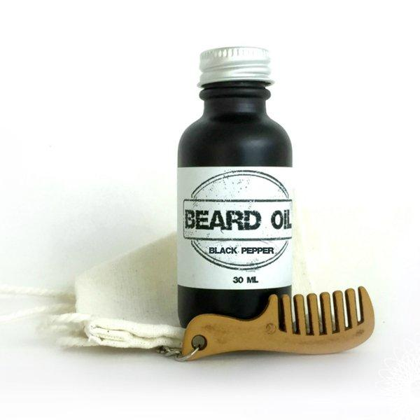 Beard Oil Gift Set | 10 Scents Available-beard, Beard Oil, essential oil, facial hair, movember-Black Pepper-Womens Artisan USA American Made Clothing Accessories