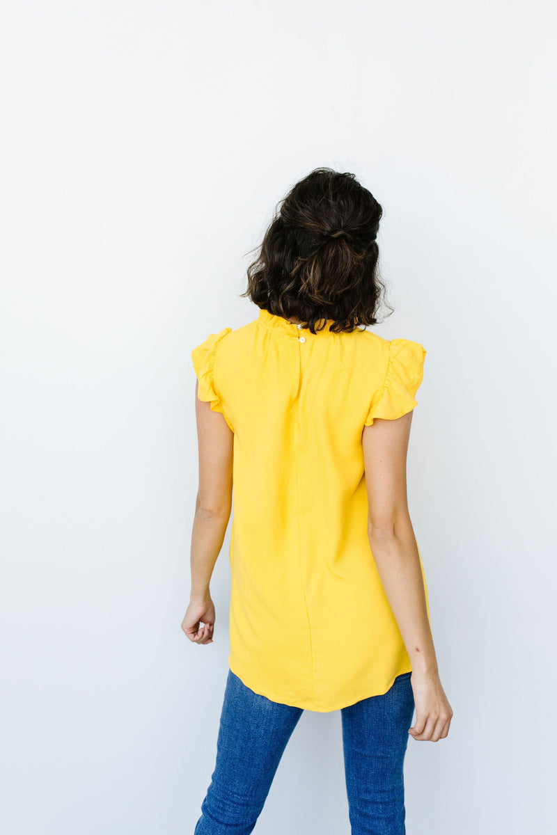 Build Me Up Buttercup Top In Yellow-1XL, 2XL, 8-11-2020, BFCM2020, Group A, Group B, Group C, Group D, Large, Made in the USA, Medium, Plus, Small, Tops, XL-Womens Artisan USA American Made Clothing Accessories