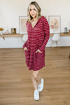 Casually Dressed Up Dress in Burgundy-11-19-2020, 11-24-2020, 1XL, 2XL, BFCM2020, Bonus, Dresses, Gr, Group A, Group B, Group C, Group V, Large, Made in the USA, Medium, Small, XL-Womens Artisan USA American Made Clothing Accessories