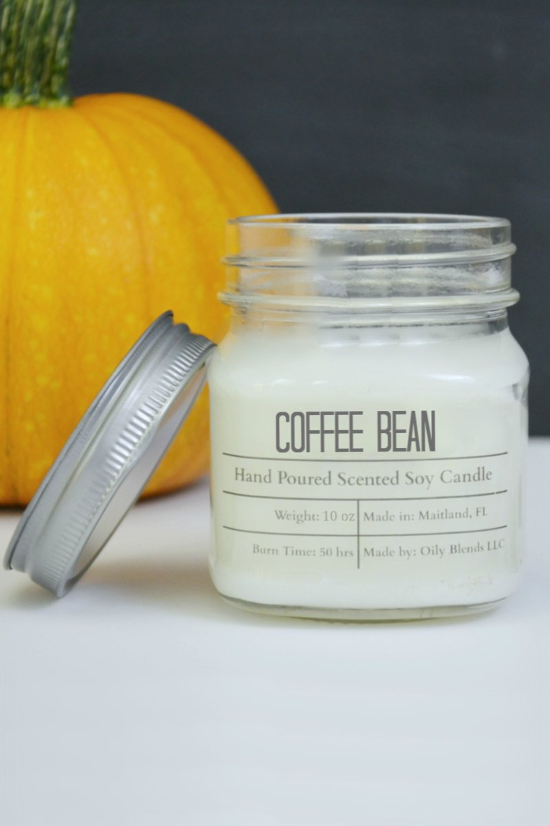 Fall Scented Cotton Wick Soy Wax Candles-Candles-Coffee Bean-Womens Artisan USA American Made Clothing Accessories