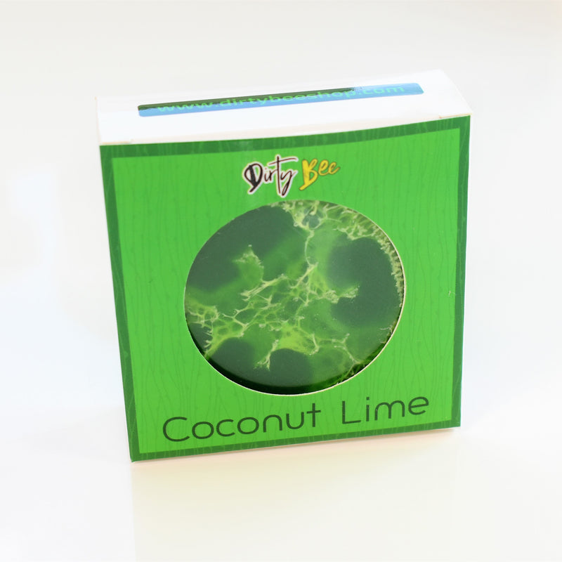 Coconut Lime Loofah Soap-Bath & Body, body, Coconut Lime, Dirty Bee, Dropship, Made in the USA, soap-Womens Artisan USA American Made Clothing Accessories