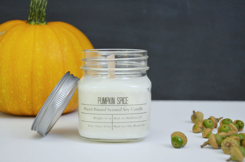 Fall Scented Cotton Wick Soy Wax Candles-Candles-Womens Artisan USA American Made Clothing Accessories