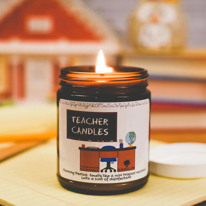 Mini Teacher Candles - 6 oz Soy Wax Candles--Womens Artisan USA American Made Clothing Accessories