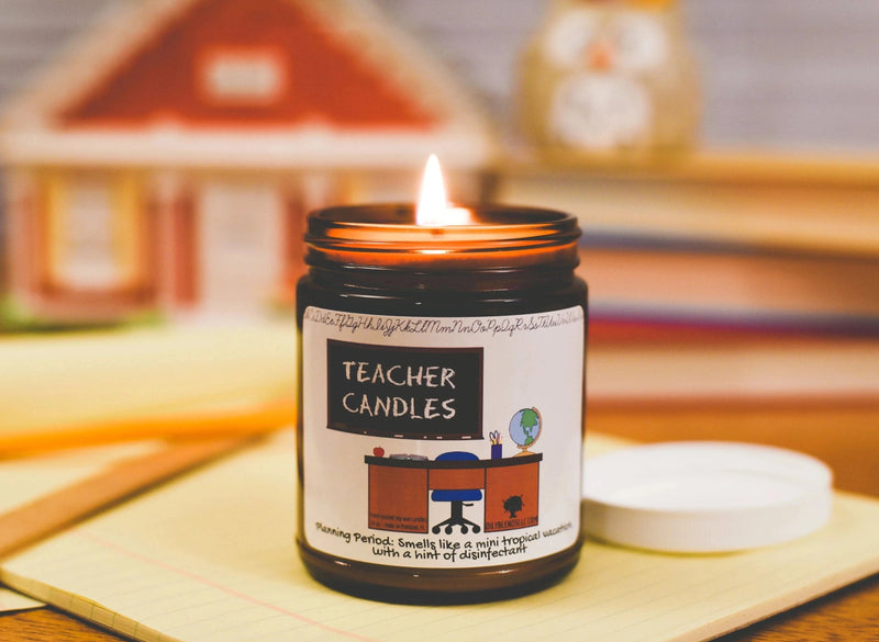Teacher Candles--Womens Artisan USA American Made Clothing Accessories