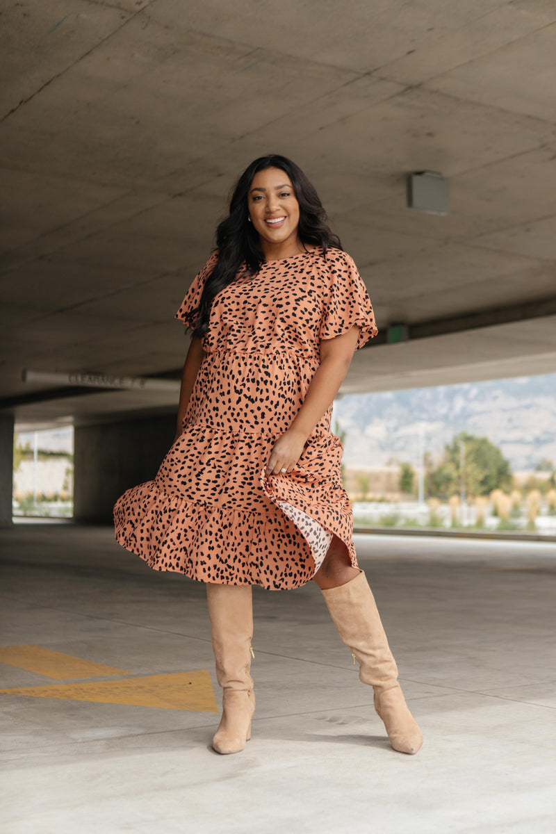 Fall Fancy Tiered Dress In Sunrise - On Hand-10-2-2020, 1XL, 2XL, 3XL, 9-22-2020, BFCM2020, Bonus, Dresses, Group A, Group B, Group C, Group D, Group S, Group T, Group V, Large, Made in the USA, Medium, Plus, Small, XL, XS-Small-Womens Artisan USA American Made Clothing Accessories