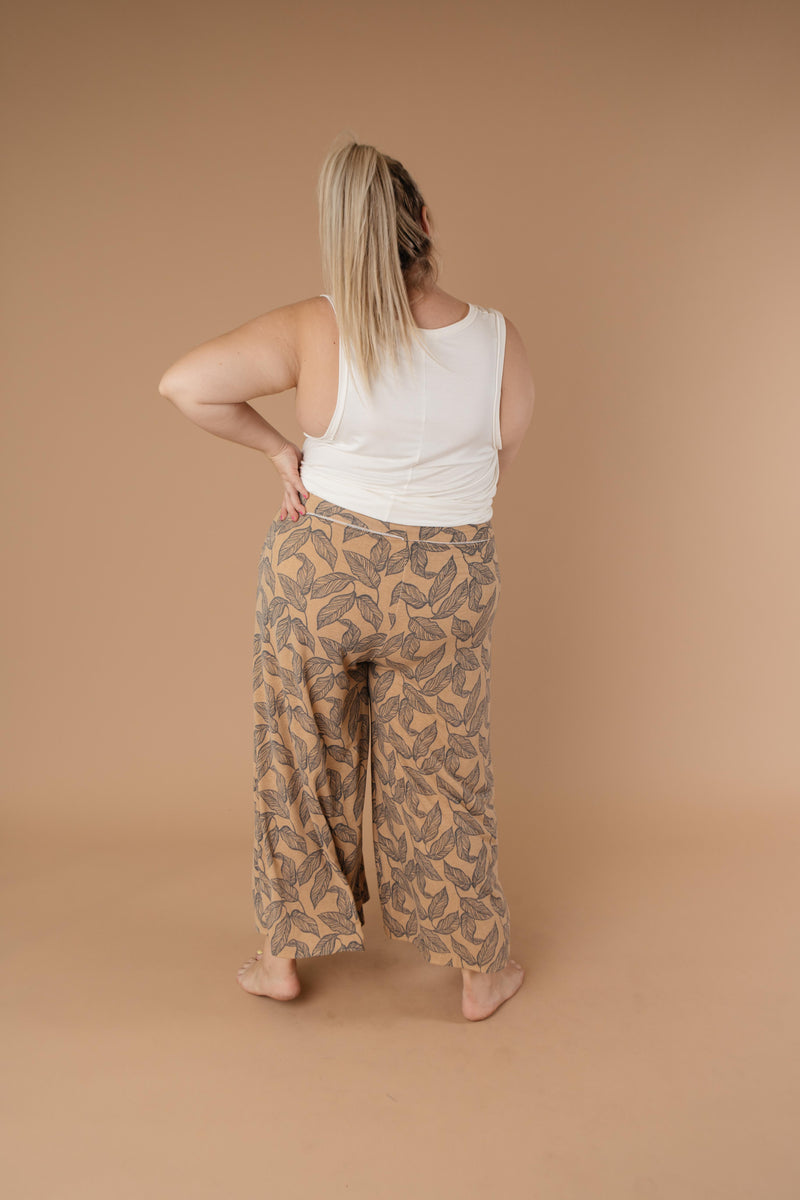 Fallen Leaves Wide Leg Pants-1XL, 2XL, 3XL, 9-10-2020, BFCM2020, Bottoms, Group A, Group B, Group C, Group D, Group S, Large, Medium, Plus, Small, Warehouse Sale, XL, XS-Womens Artisan USA American Made Clothing Accessories