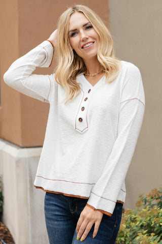 A Little Chilly Cold Shoulder Top