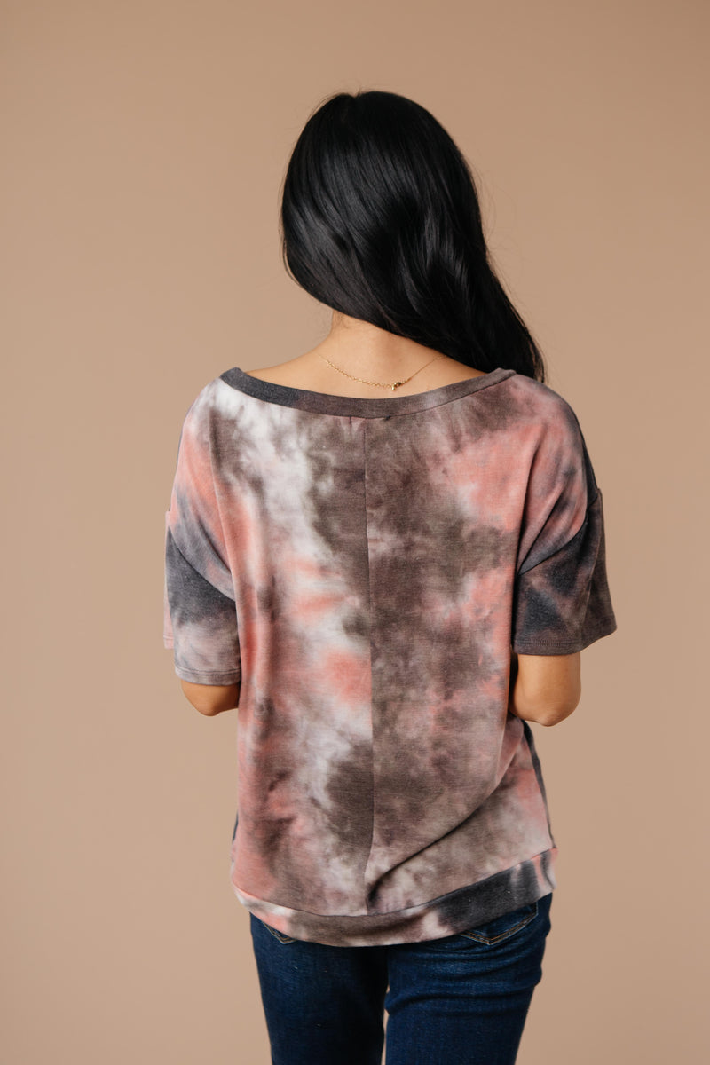 Forgotten Dreams Tie Dye Top In Mauve-1XL, 2XL, 3XL, 9-10-2020, Group A, Group B, Group C, Large, Medium, Plus, Small, Tops, XL, XS-Womens Artisan USA American Made Clothing Accessories