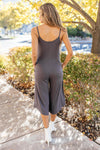 Good Better Best Cropped Tank Jumpsuit in Charcoal-1-7-2021, 1XL, 2XL, 3XL, Bottoms, Group A, Group B, Group C, Group X, Group Z, Large, Medium, Small, XL, XS-Womens Artisan USA American Made Clothing Accessories