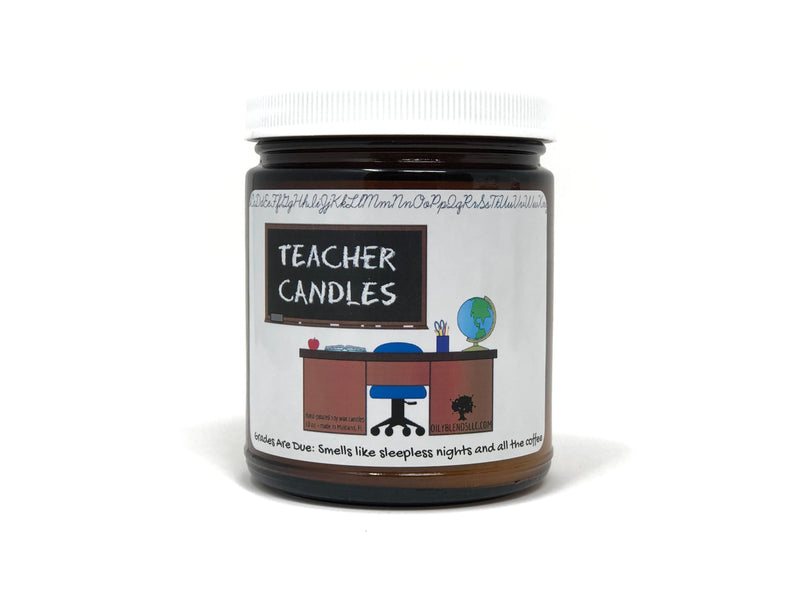 Teacher Candles-Grades are Due-Womens Artisan USA American Made Clothing Accessories