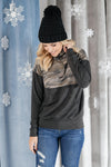 Half Camo Pullover in Charcoal-11-27-2020, 1XL, 2XL, 3XL, BFDB2020, Group A, Group B, Group C, Group V, Group X, Large, Medium, Small, Tops, XL, XS-Womens Artisan USA American Made Clothing Accessories