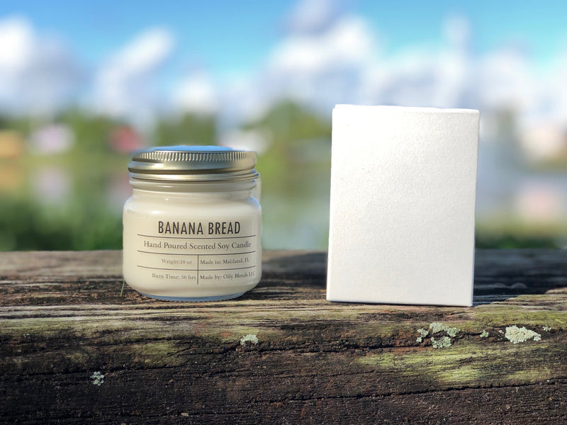 Fall Scented Cotton Wick Soy Wax Candles-Candles-Banana Bread-Womens Artisan USA American Made Clothing Accessories