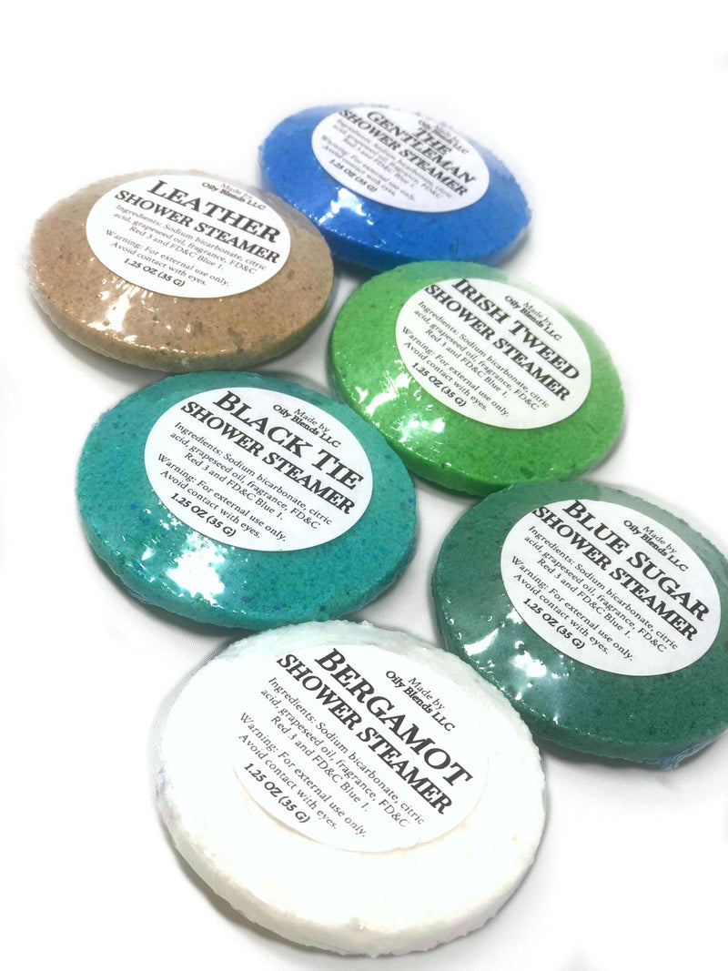 Men's Shower Steamers--Womens Artisan USA American Made Clothing Accessories