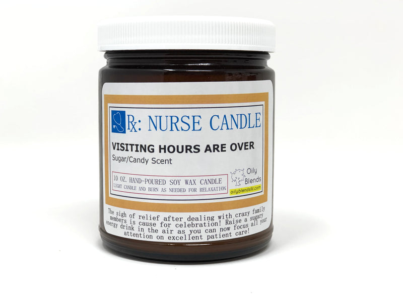Nurse Candles - 10 oz Soy Wax Candles-Visiting Hours-Womens Artisan USA American Made Clothing Accessories