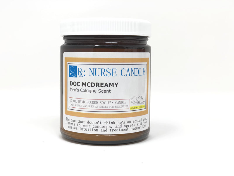 Nurse Candles - 10 oz Soy Wax Candles-Doc McDreamy-Womens Artisan USA American Made Clothing Accessories