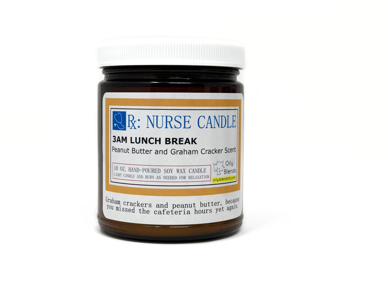 Nurse Candles - 10 oz Soy Wax Candles-3am Lunch Break-Womens Artisan USA American Made Clothing Accessories