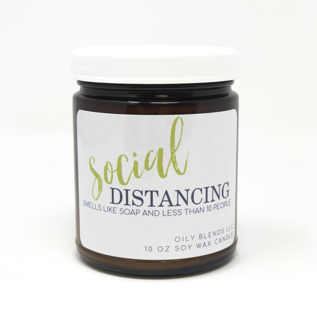 Social Distancing Candle--Womens Artisan USA American Made Clothing Accessories
