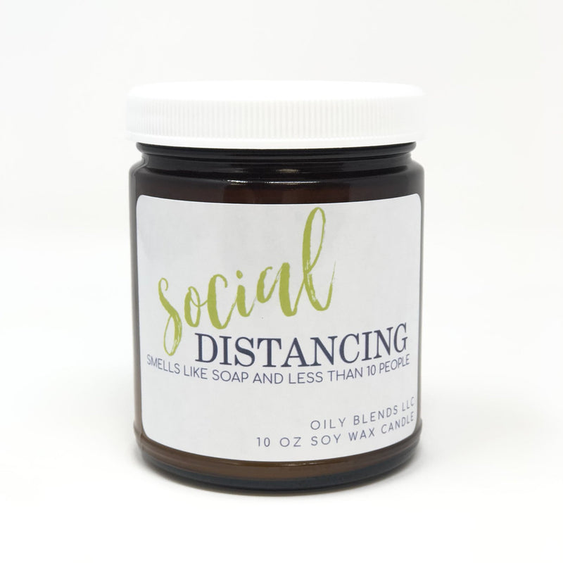 Social Distancing Candle-Candles-10 oz-Womens Artisan USA American Made Clothing Accessories