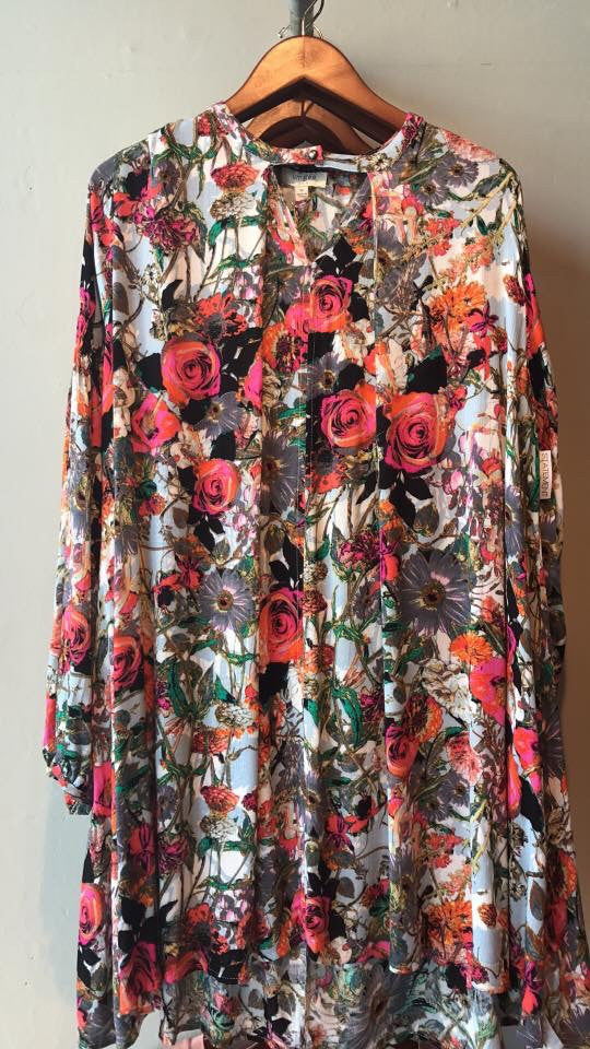 Summer Floral Boho Dress-Bohemian, Boho, Cotton, Dress, Floral, Flowers, Summer, Year Round-M-Womens Artisan USA American Made Clothing Accessories