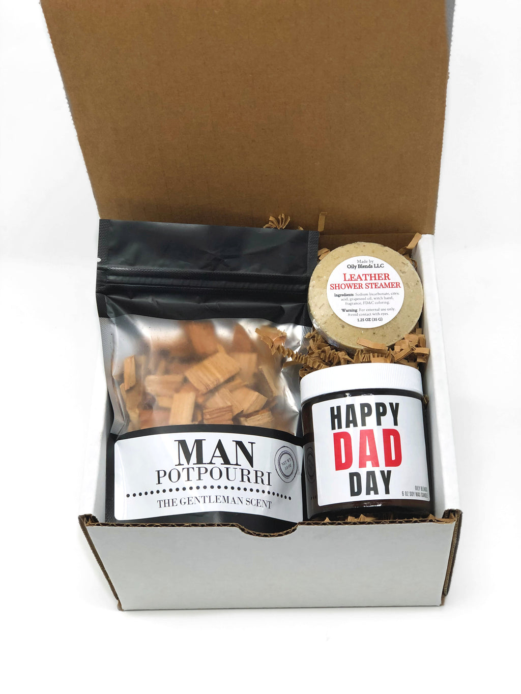 Father's Day Gift Box-With Candle-Womens Artisan USA American Made Clothing Accessories