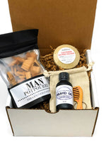 Father's Day Gift Box-With Beard Oil Gift Set-Womens Artisan USA American Made Clothing Accessories