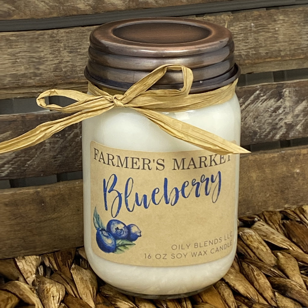 JUMBO Farmer's Market Candles - 16 oz Soy Wax Candles--Womens Artisan USA American Made Clothing Accessories