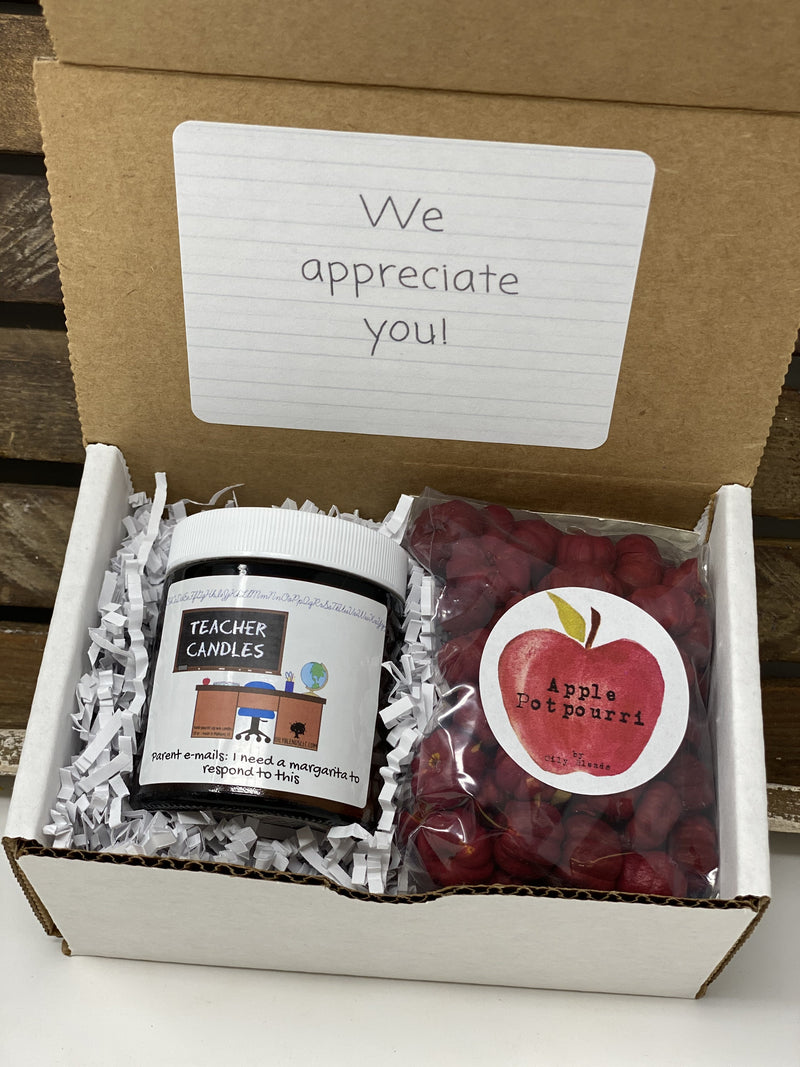 Teacher Gift Boxes-Parent Emails-Womens Artisan USA American Made Clothing Accessories