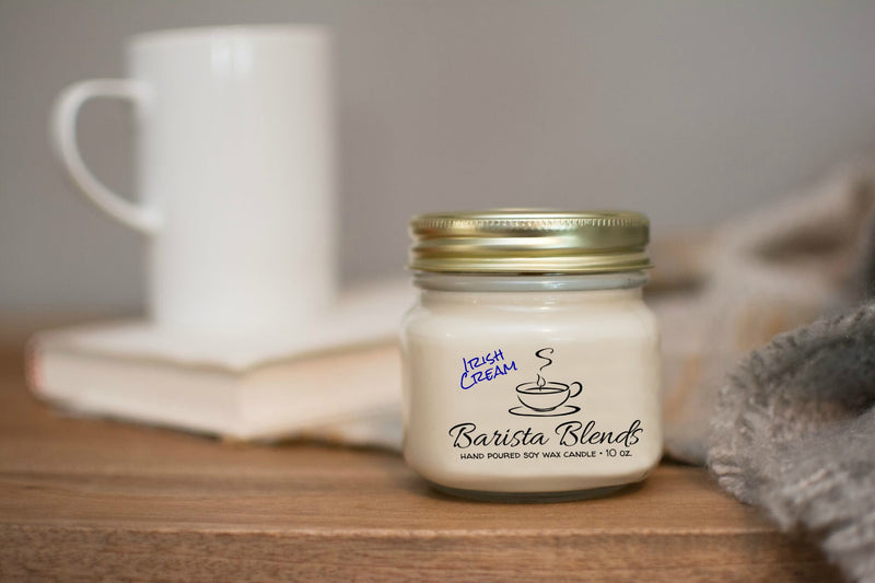 Barista Blends Coffee House Soy Wax Candles-Irish Cream-Womens Artisan USA American Made Clothing Accessories