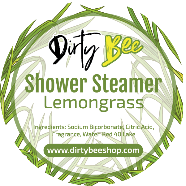 Lemongrass Shower Steamer-All-Natural, body, Dirty Bee, Dropship, Lemongrass, Shower Steamer-Womens Artisan USA American Made Clothing Accessories
