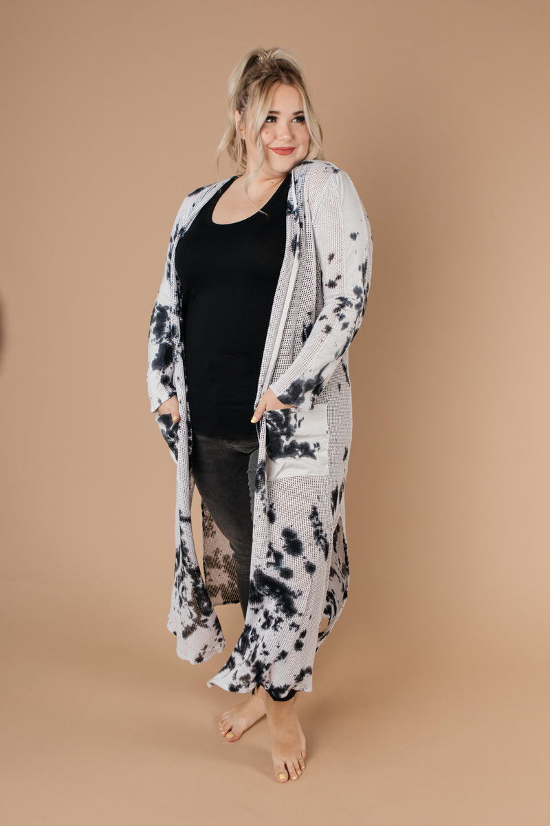 Long Game Black & White Cardigan-1XL, 2XL, 3XL, 8-27-2020, Group A, Group B, Group C, Large, Medium, Plus, Small, Tops, XL, XS-Womens Artisan USA American Made Clothing Accessories