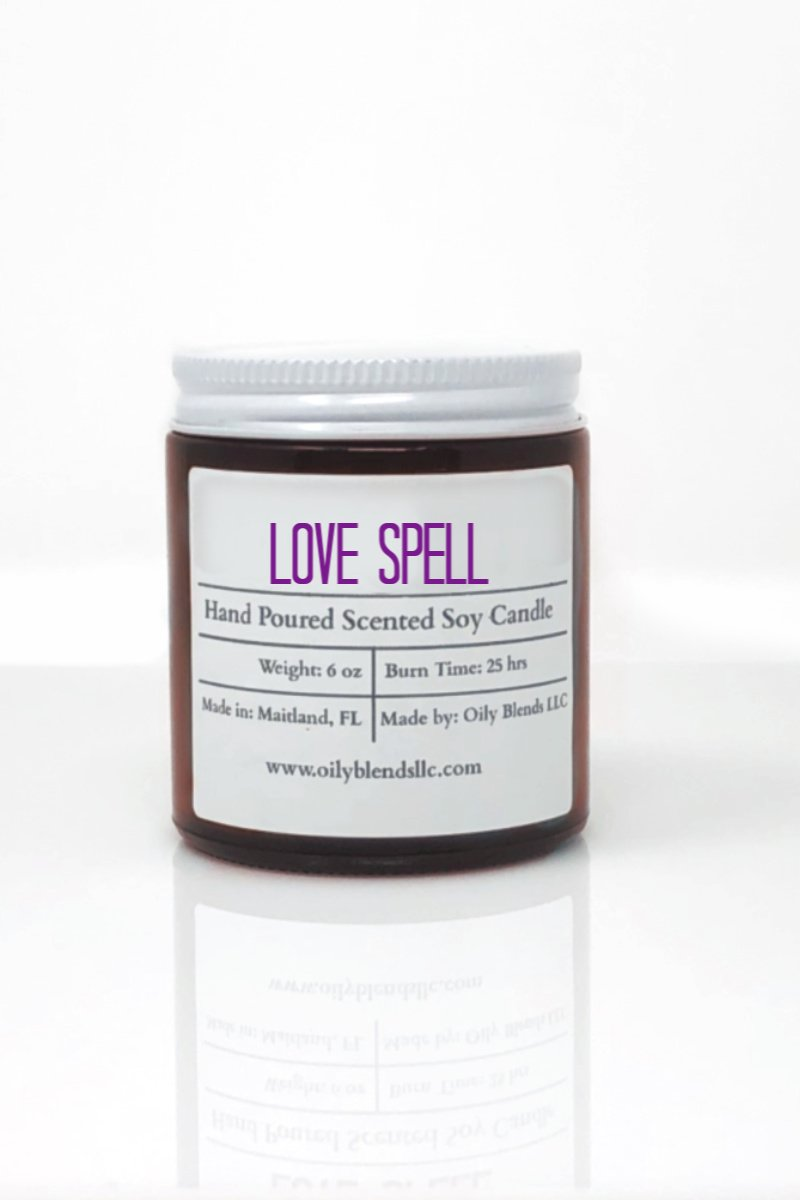 Romance Candles - 6 oz Soy Wax Candles-Love Spell-Womens Artisan USA American Made Clothing Accessories