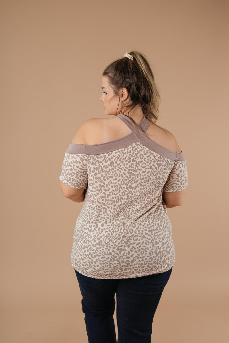 Lovely Leopard Top - On Hand-1XL, 2XL, 3XL, 9-17-2020, BFCM2020, Group A, Group B, Group C, Group D, Group T, Large, Medium, Plus, Small, Tops, XL, XS-Small-Womens Artisan USA American Made Clothing Accessories