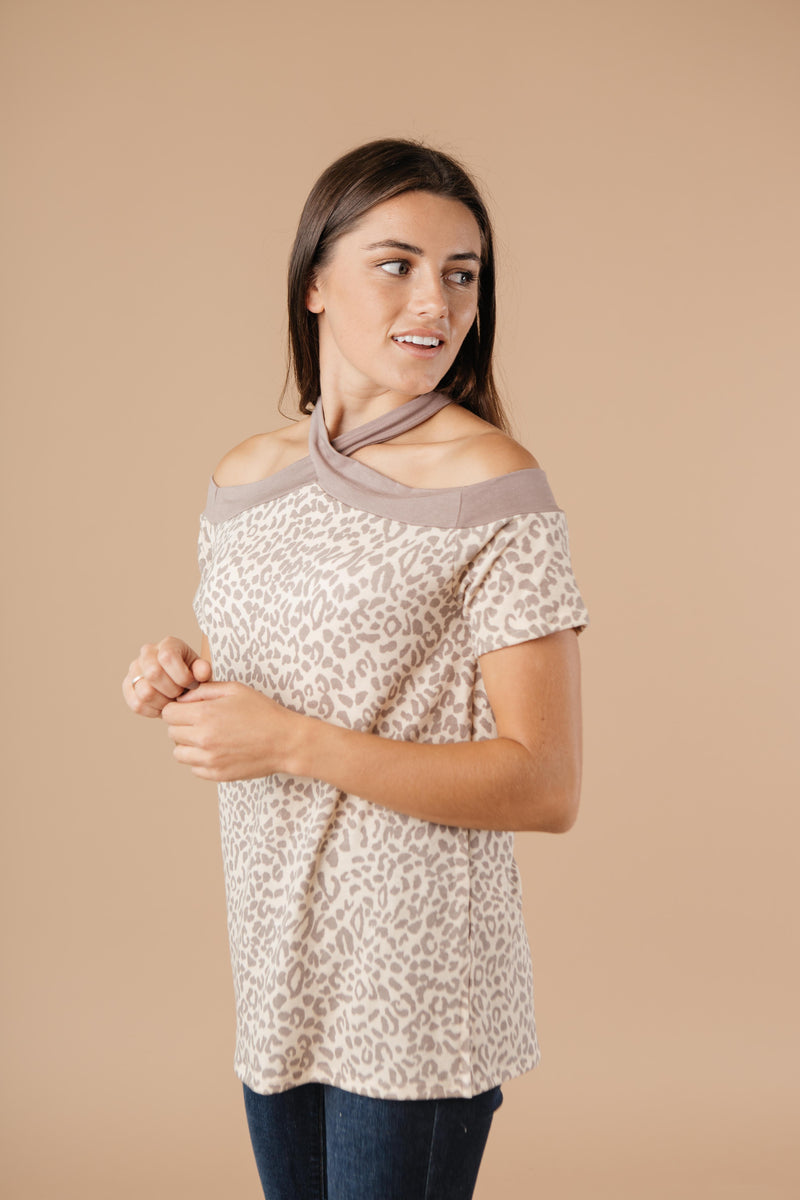 Lovely Leopard Top - On Hand-1XL, 2XL, 3XL, 9-17-2020, BFCM2020, Group A, Group B, Group C, Group D, Group T, Large, Made in the USA, Medium, Plus, Small, Tops, XL, XS-Small-Womens Artisan USA American Made Clothing Accessories