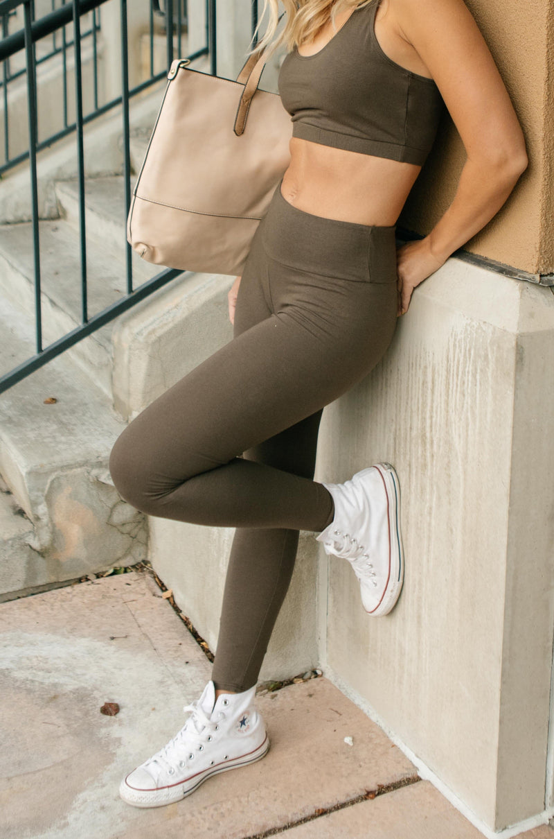 Lucy Lounging Leggings in Deep Olive-10-13-2020, 1XL, 2XL, 3XL, BFCM2020, Bottoms, Group A, Group B, Group C, Group D, Group V, Group W, Group X, Group Z, Large, Medium, Plus, Small, XL, XS-Womens Artisan USA American Made Clothing Accessories