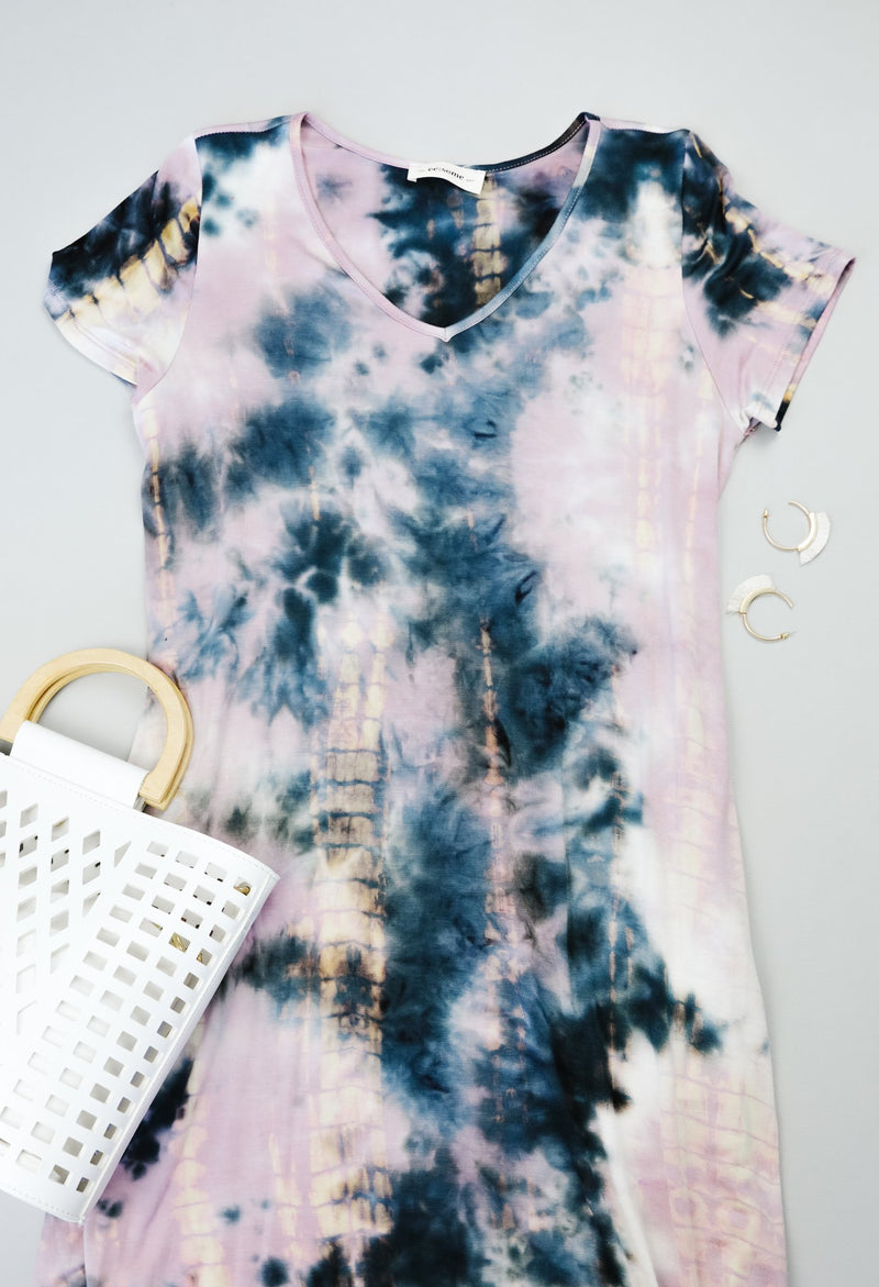 Miami Beach Tie Dye Maxi Dress-1XL, 2XL, 6-9-2020, 9-4-2020, Bonus, Dresses, Group A, Group B, Group C, Group D, Large, Medium, Plus, Restocks, Small, XL-Womens Artisan USA American Made Clothing Accessories