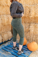 Mineral Wash Minimalist Pants in Hunter Green-10-27-2020, 1XL, 2XL, 3XL, Bottoms, Group A, Group B, Group C, Group D, Group T, Group V, Group W, Group X, Group Z, Large, Made in the USA, Medium, Plus, Small, XL, XS-Womens Artisan USA American Made Clothing Accessories