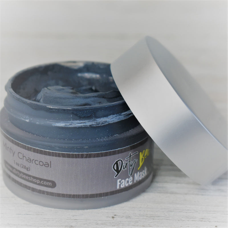Minty Charcoal Face Mask-Bath & Body, Dirty Bee, Dropship, Face Mask, Minty Charcoal-Womens Artisan USA American Made Clothing Accessories
