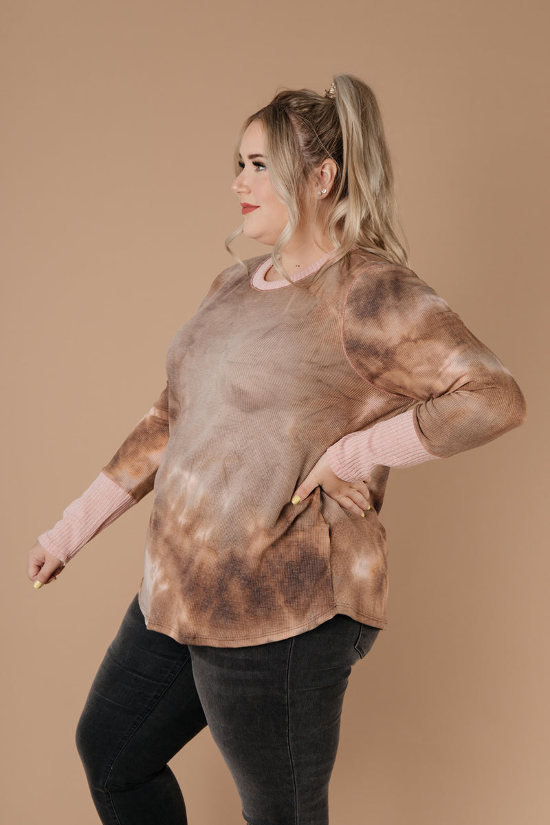 New Neutrals Tie Dye Top-1XL, 2XL, 3XL, 9-1-2020, Group A, Group B, Group C, Group D, Large, Medium, Plus, Small, Tops, XL, XS-Womens Artisan USA American Made Clothing Accessories