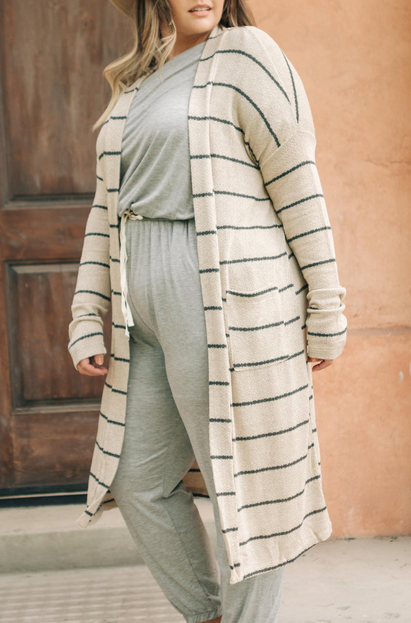 Northside Cardi in Taupe - On Hand-10-6-2020, 1XL, 2XL, 3XL, BFCM2020, Final Few Friday, Group A, Group B, Group C, Group D, Group T, Large, Medium, On hand, Plus, Small, Tops, XL, XS-Small-Womens Artisan USA American Made Clothing Accessories