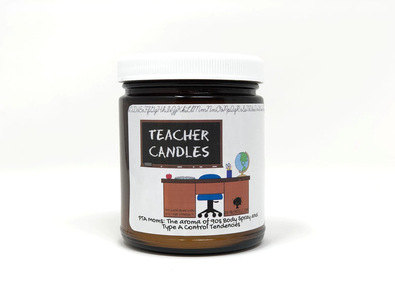 Teacher Candles-PTA Moms-Womens Artisan USA American Made Clothing Accessories
