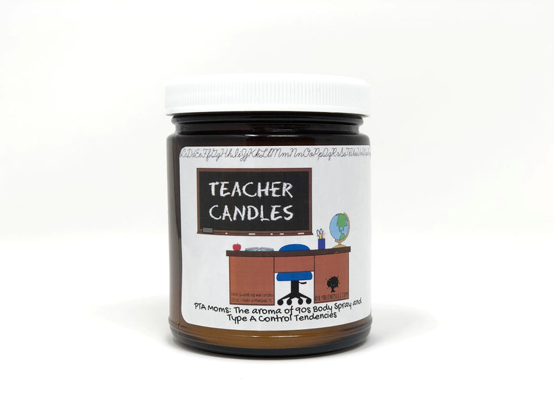 Mini Teacher Candles-PTA Moms-Womens Artisan USA American Made Clothing Accessories