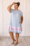 Parallel Lines Tie Dye Dress-1XL, 2XL, 3XL, 4-13-2021, 4-28-2021, Bonus, Dresses, Group A, Group B, Group C, Large, Made in the USA, Medium, Small, XL, XS-Womens Artisan USA American Made Clothing Accessories
