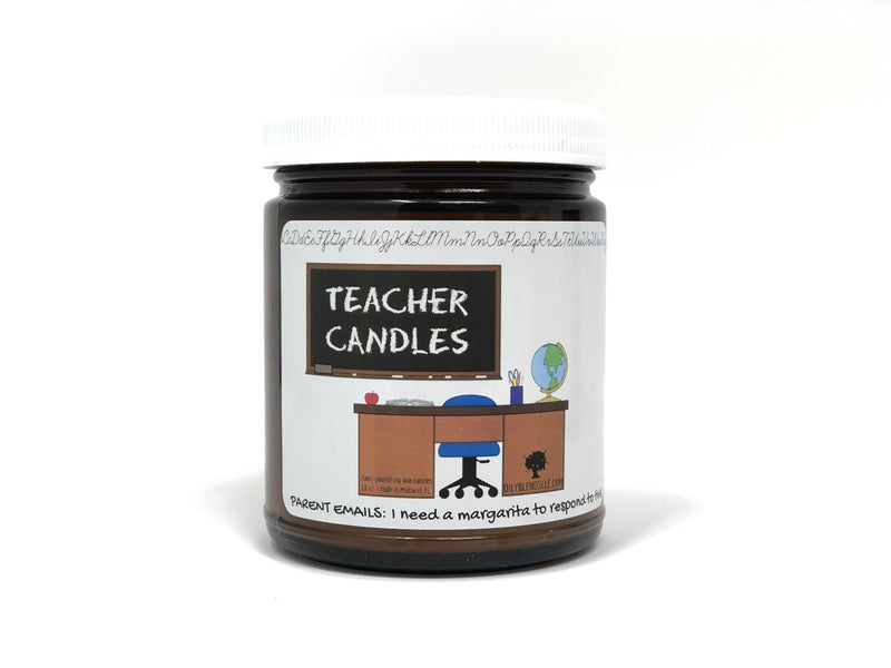 Mini Teacher Candles - 6 oz Soy Wax Candles-Parent Emails-Womens Artisan USA American Made Clothing Accessories