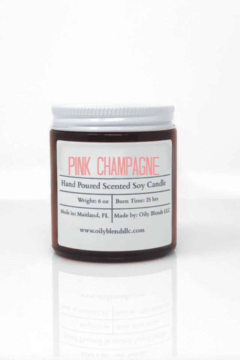 Romance Candles - 6 oz Soy Wax Candles-Pink Champagne-Womens Artisan USA American Made Clothing Accessories