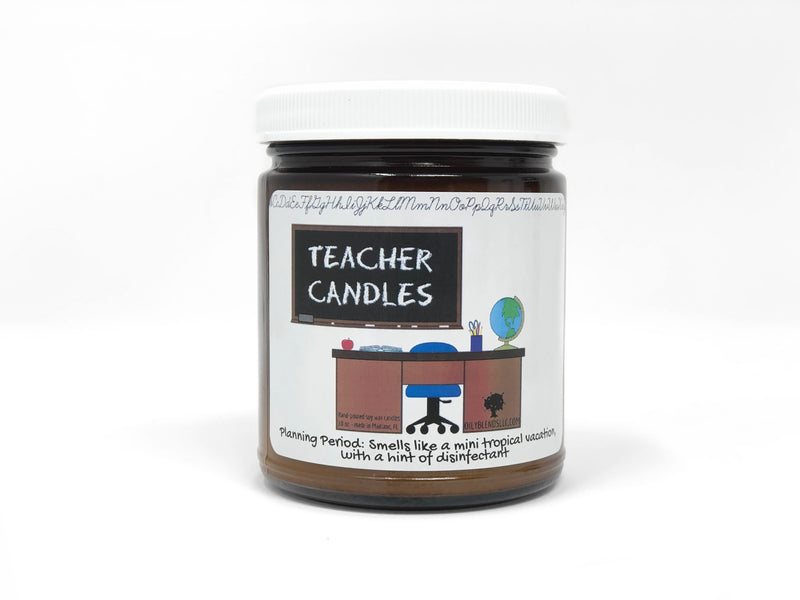 Mini Teacher Candles - 6 oz Soy Wax Candles-Planning Period-Womens Artisan USA American Made Clothing Accessories
