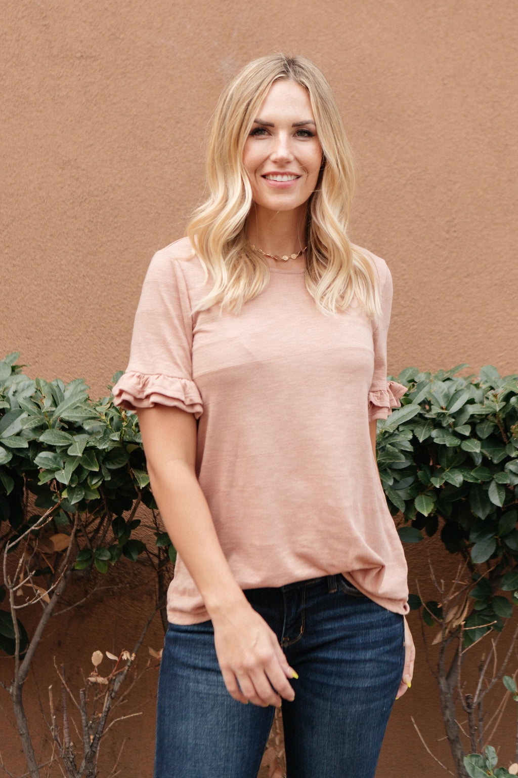 Rosy Ruffled Sleeve Top-10-15-2020, 10-23-2020, 1XL, 2XL, 3XL, BFCM2020, Bonus, Group A, Group B, Group C, Group D, Group U, Group V, Group X, Group Y, Group Z, Large, Made in the USA, Medium, Plus, Small, Tops, XL, XS-Womens Artisan USA American Made Clothing Accessories