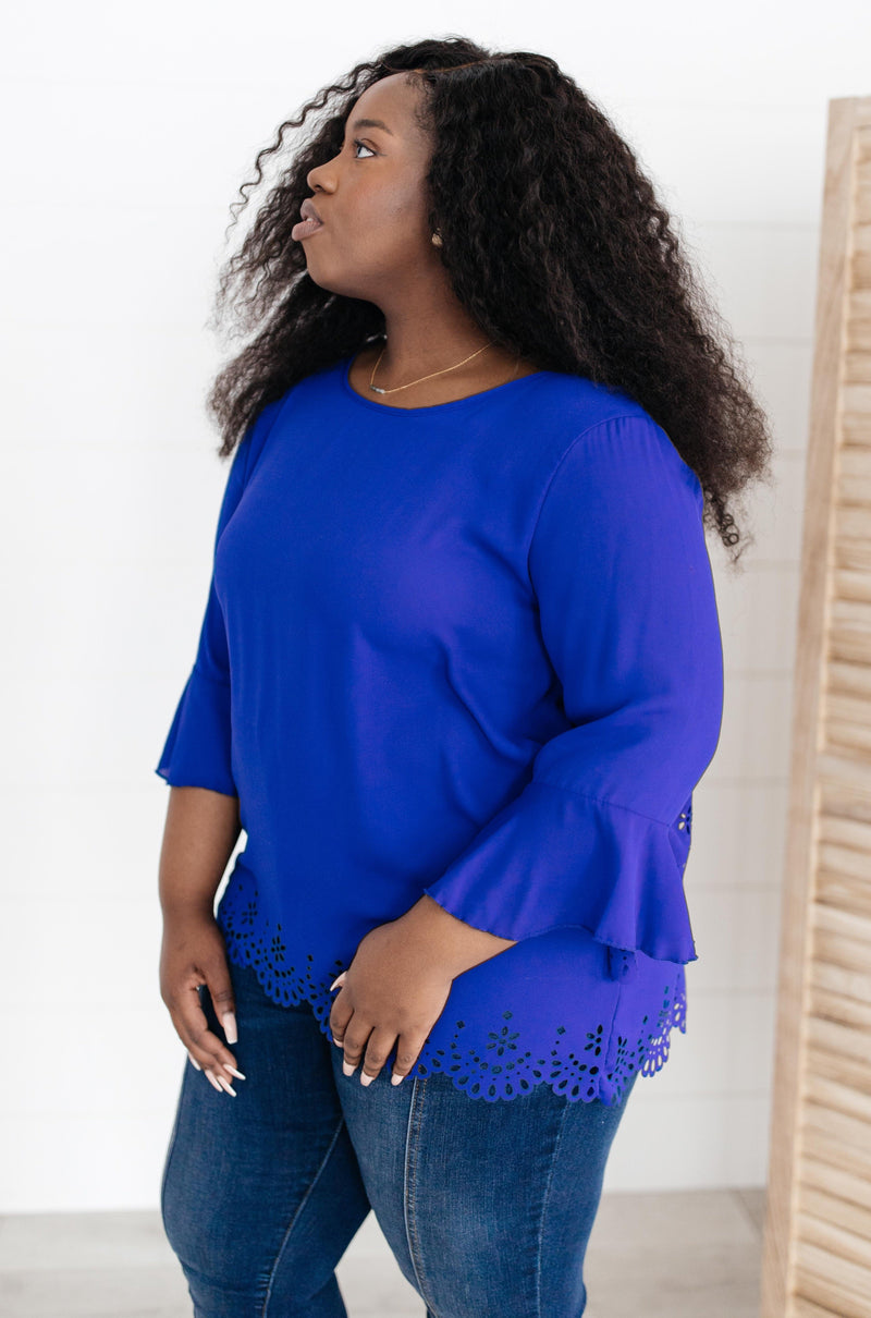 Royal Blue Dream Blouse-1XL, 2-16-2021, 2XL, 3XL, Group A, Group B, Group C, Large, Made in the USA, Medium, Small, Tops, XL, XS-Womens Artisan USA American Made Clothing Accessories