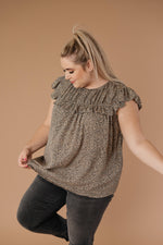 Ruffled Yoke Blouse - On Hand-1XL, 2XL, 3XL, 9-10-2020, BFCM2020, Group A, Group B, Group C, Group D, Large, Made in the USA, Medium, Plus, Restocks, Small, Tops, XL, XS-Small-Womens Artisan USA American Made Clothing Accessories